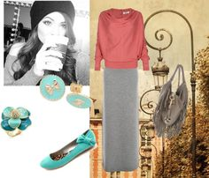 Another fall maxi skirt outfit 3 by ...