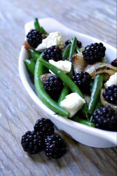 green bean blackberry salad