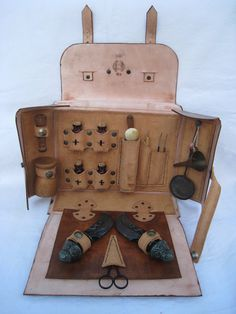 Lovely leather medical bag for a LARP Maybe this would make healing more interesting...