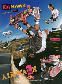Retro tony hawk promo for airwalk Collage Mural, Bedroom Wall Collage, Photo Wall Collage, Picture Wall, Room Posters, Poster Wall, Poster Prints, Pop Art Posters, Band Posters