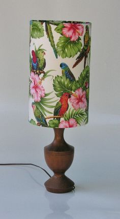 Tropical Parrot Lamp. Colorful and Bright.