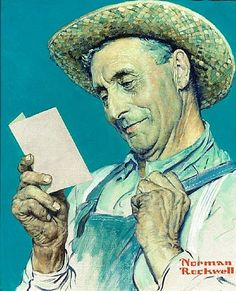 Letter detail ~ Norman Rockwell. Makes me cry.