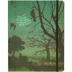 Edgar Allan Poe Journal: beautifully flexible-covered journal with decorated pages
