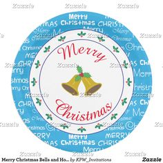 Merry Christmas Bells and Holly