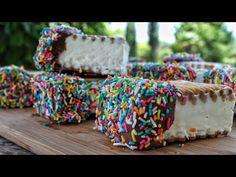 Παγωτό Sandwich με 3 Υλικά | Δημήτρης Μιχαηλίδης Gelato, Truffles, Sprinkles, Sandwiches, Food And Drink, Ice Cream, Sweets, Candy, Desserts