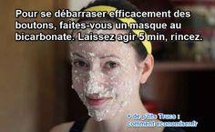masque naturel pour lutter contre bouton remède bicarbonate