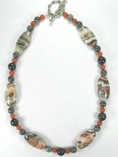 painted desert jasper necklace