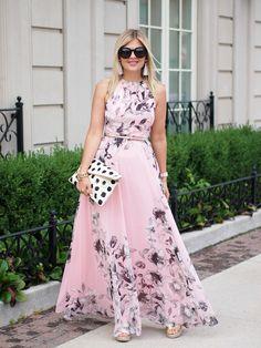 Floral dress street style summer 38 ideas for 2019 Trendy Dresses, Cute Dresses, Beautiful Dresses, Fashion Dresses, Summer Dresses, Formal Dresses, Eliza J Dresses Maxi, Yellow Floral Dress, Floral Maxi Dress