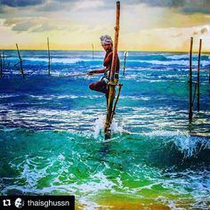 Amazing photography of a Stick-Fisherman by @thaisghussn  Truly inspiring content by this user!  @stockphotolk would love to have you onboard by signing up on www.stockphoto.lk for free! Convert your creativity into revenue! .   #SriLanka #TravelSrilanka #ExploreSrilanka #VisitSrilanka #instatravel #ig_asia #ig_srilanka #travelgram #travelawesome #Welligama #fisherman #stickfisherman #stickfishermen #alandlikenoother #iamsrilanka #fishing