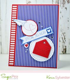 designs by kerin sylvester Special Delivery, Cool Sketches, Gift Certificates, Clear Stamps, Stampin Up, Card Making, Challenges, Paper Crafts, Diy