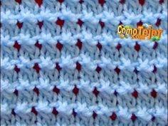 Como tejer una manta o cobija a crochet- ganchillo Principiantes- Liliana Milka - Beginner Crochet Baby Knitting Patterns, Knitting Stiches, Knitting Videos, Crochet Videos, Crochet Stitches, Hand Knitting, Stitch Patterns, Crochet Patterns, Baby Stitch