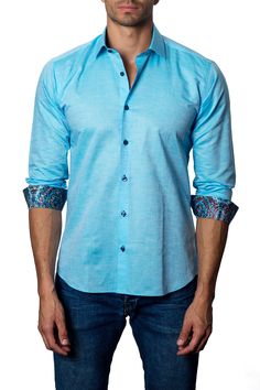 Jared Lang Woven Modern Fit Shirt