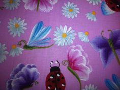 Donna Dewberry Daisies and Insects from by StrawberryPatchquilt, $7.00