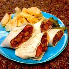 Beans & Franks Burritos - Great Recipes from FRENCH'S® Foods   FRENCH'S Mustard, Fried Onions, Worcestershire Sauce Products