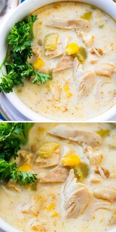 This is an easy delicious white chili recipe that can be made with rotisserie chicken to save time on busy weeknights or weekends. This one's a keeper!
