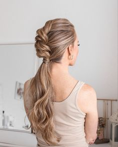 @missysueblog Rope Braid, Braided Ponytail, Braided Hairstyles, Cool Hairstyles, How To Make Clothes, Making Clothes, My Girl, Style Me, Hair Makeup