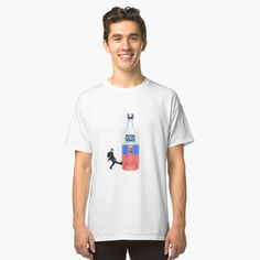 'Putin Vodka Cheeki Breeki ' Classic T-Shirt by xtraedge My T Shirt, Chiffon Tops, Fabric Weights, Vodka, Heather Grey, Classic T Shirts, Shirt Designs, Printed, Awesome