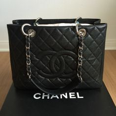 HPChanel GST Black Caviar Leather Tote Practically brand new! 100% authentic. Considered by many to be the holy grail of all Chanel bags. No longer in production and hard to find one in excellent condition. Never carried, only tried. Replaced stuffing. Only comes with box as I originally intended to keep it. Poshmark will authenticate for you. No trades. Open to reasonable offers. Serious buyers only. Host pick 6/7/16. CHANEL Bags Totes