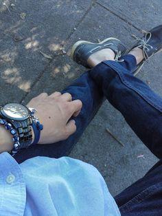 Navy style #Navy #Men #Style #Fashion #Anchor #Watch #Polo #Sperry #Bracelet
