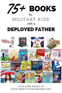75 books for military kids with a deployed father. (:Tap The LINK NOW:) We provide the best essential unique equipment and gear for active duty American patriotic military branches, well strategic selected. Military Deployment, Military Spouse, Military Families, Military Gifts, Deployment Countdown, Deployment Care Packages, Army Family, I Carry Your Heart, Military Love