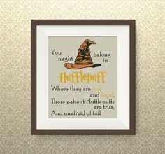 BUY 2, GET 1 FREE! Sorting Hat's Song Hufflepuff cross stitch pattern, Harry Potter quote cross stitch pattern, Spells cross stitch, P260 by NataliNeedlework on Etsy