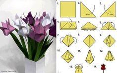 tulipán origami - Hledat Googlem