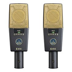 AKG C414 matched pair condenser mics