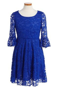 Love, Nickie Lew Lace Skater Dress (Big Girls) available at #Nordstrom