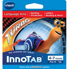 VTech InnoTab Software Turbo: Development & Learning Toys : Walmart.com $25