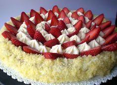 zioda': Torta di fragole con mousse al cioccolato bianco e mascarpone