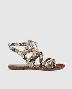 Sandalias planas de mujer Sam Edelman con estampado
