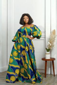 Ankara Maxi Dress, African Maxi Dresses, Latest African Fashion Dresses, African Dresses For Women, African Attire, Mode Wax, Vetement Fashion, Africa Dress, Printed Maxi Skirts