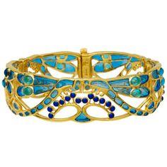 Parisian Art Nouveau Dragonfly Bracelet