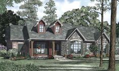 House Plan 110-00842 - Country Plan: 1,960 Square Feet, 3 Bedrooms, 2.5 Bathrooms
