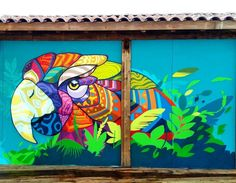 "Farid Rueda, ""Printemps""at Lacabanedeperols in Pérols, France, 2017 Graffiti Art, Street Art Graffiti, Strret Art, Antonio Francisco Lisboa, Art Tropical, Images D'art, Installation Street Art, Grafiti, Amazing Street Art"