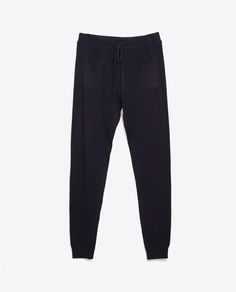 Image 5 of RIBBED KNIT TROUSERS from Zara