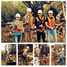 RG @Ingrid Taylor M: Bringing down the house! Demolition on #bcappa in my @B C Campus Recreation spring break tshirt! Photo credit to @milwaukeepalmetto #bcspringbreak — with Ingrid Marquardt, Arthur Newbould, Nick Moffa and Christian Avila. 2014