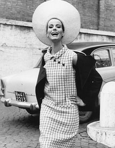 Dress and hat in Rome, 1965   |  #1960s #CandySays