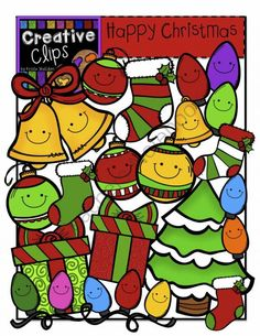 Happy Christmas Creative Clips Digital Clipart From On TeachersNotebook 54
