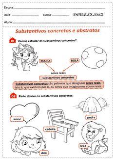 Atividades com substantivos abstratos e concretos