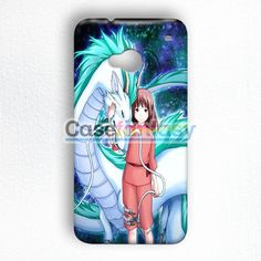 Spirited Away On Galaxy Nebula HTC One M7 Case | casefantasy