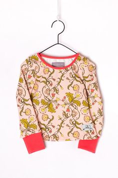 "Girls long sleeve shirt // ""Funny flowers"" by Poutapukimo on Etsy"