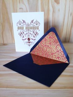 Bah Humbug Heart holiday greeting card with by TheCardAisle, $3.00