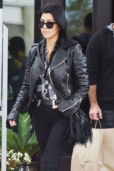 From a leather moto jacket to the perfect poncho, 8 fall coats to buy NOW: Kourtney Kardashian's leather jacket