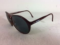 Ocean Waves Vintage Glass Polarized Sunglasses Brown