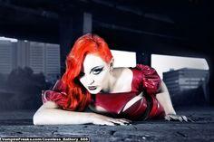 #Vampirefreaks model Countess Havok going redhead