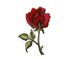 Rose rouge bricolage Applique fer sur Patch