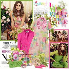 """Girly girl - Olivia Palermo"" by amaryllis ❤ liked on Polyvore"