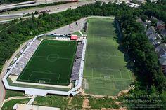 Awesome aerial shot of Silverbacks soccer stadium. Atlanta Travel, Atlanta City, Georgia Usa, Atlanta Georgia, World Cup 2014, Fifa World Cup, Pictures Online, Stock Pictures, Soccer Stadium