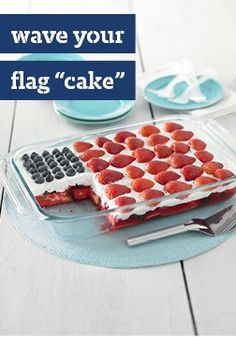 """Wave Your Flag """"Cake"""" -- Let's hear it for this glorious dessert recipe -- ready in just 20 minutes and made without having to turn on the oven."""